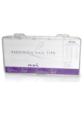 White * NSI Precision Nail Tips
