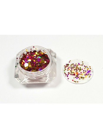 Mixed gold/pink/purple * Ultrathin Nail Art Sequins