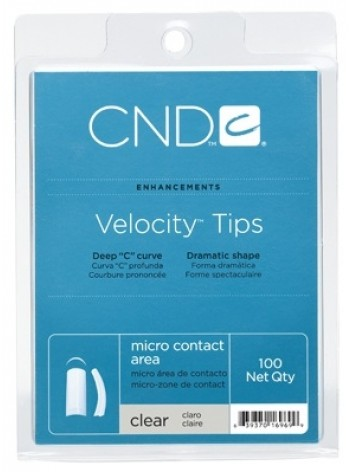 CND VELOCITY TIPS 100 pcs - Clear
