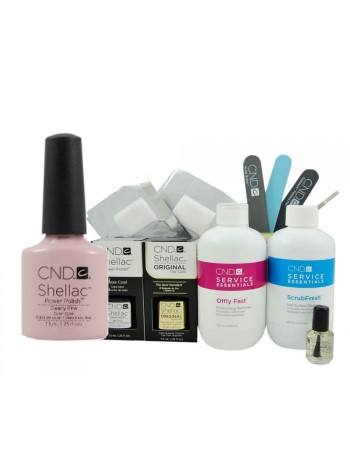 CND Shellac Clearly Pink Starter Kit