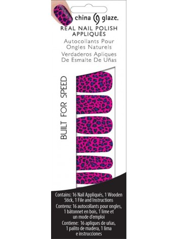 Built For Speed * China Glaze Real Nail Polish Appliques