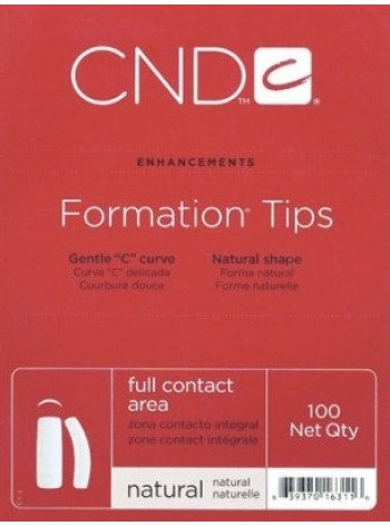 CND FORMATION TIPS 100 pcs - Natural
