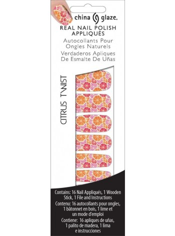 Citrus Twist * China Glaze Real Nail Polish Appliques