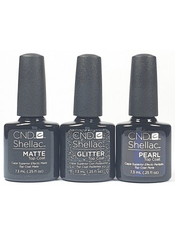 CND Shellac Alluring Trilogy Top Coat Collection