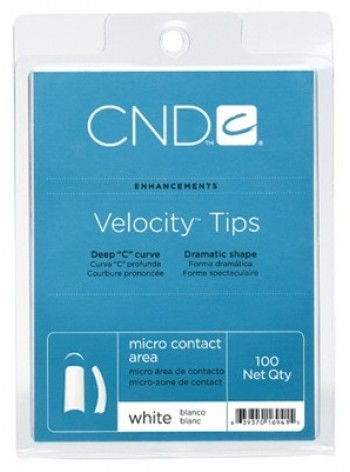 CND VELOCITY TIPS 100 pcs - White