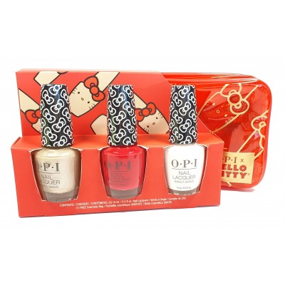 Opi Nail Lacquer Gift 3 Pack Bag Hello Kitty Collection