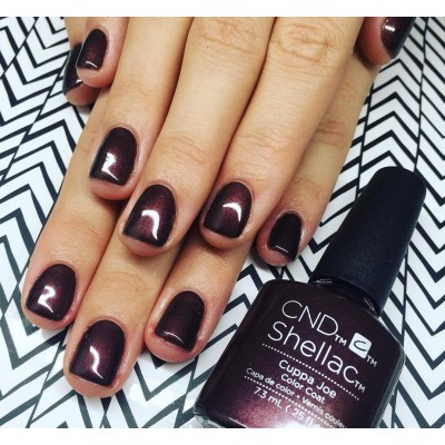 Cuppa Joe Cnd Shellac Enails Eu