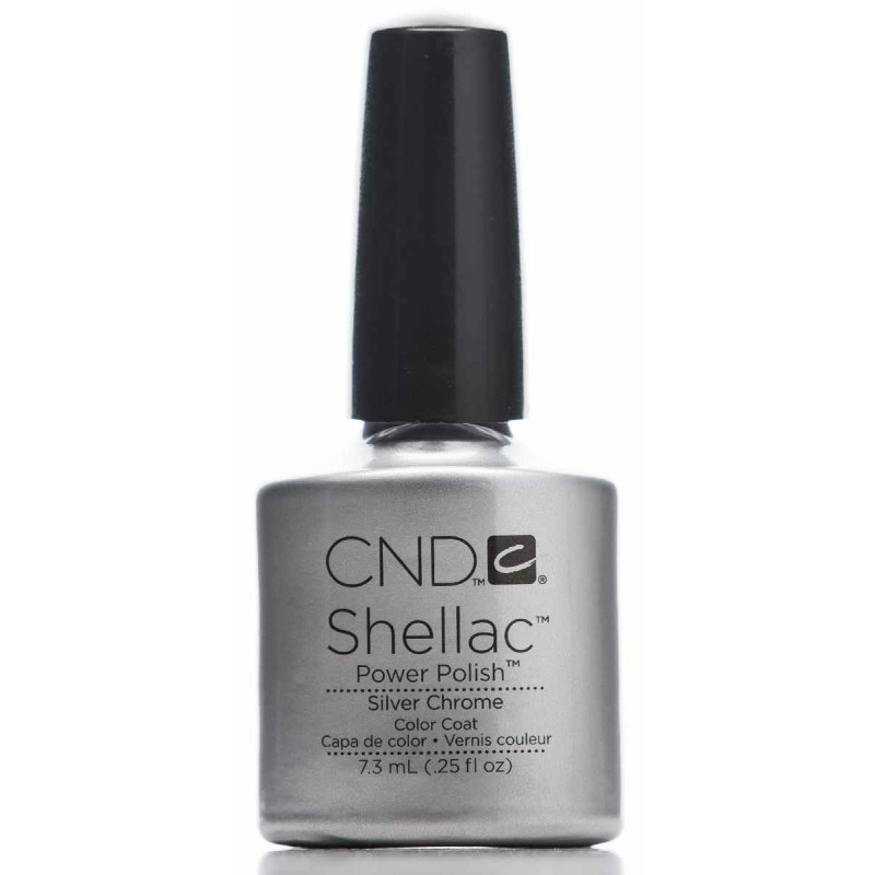 Chrome Nail Powder Cnd: Silver Chrome * CND Shellac