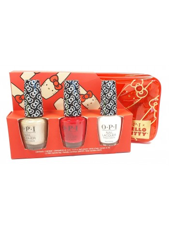 OPI Nail Lacquer Gift 3 Pack+bag * Hello Kitty Collection