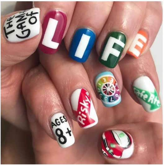 text on nails