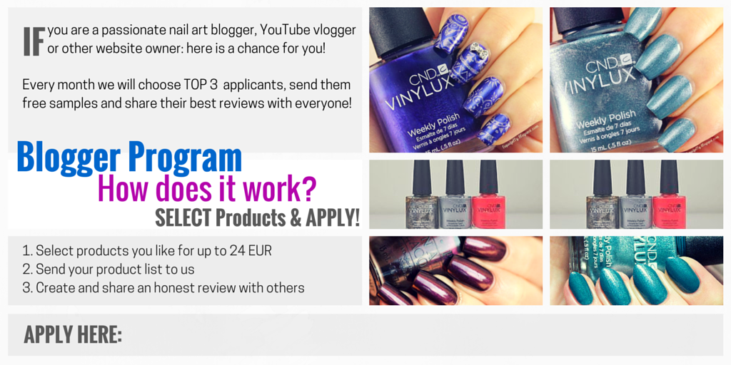 Free Nail Polish Samples for Bloggers | Enails.eu